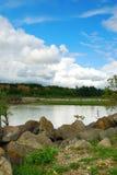 Água e nuvens da terra Fotografia de Stock Royalty Free
