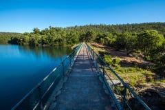 Água e terra Fotografia de Stock