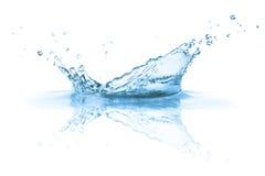 A água espirra
