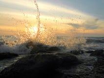 A água espirra Foto de Stock