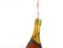 Água estourada fora de um frasco Fotos de Stock