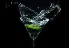 A água fora do vidro Foto de Stock