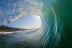 Água-foto interna da cavidade da onda perfeita Imagem de Stock Royalty Free