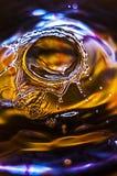 Água-gota de espirro clara Imagens de Stock