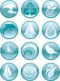 Água Icons_Round ilustração do vetor