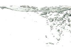 Água isolada sobre o branco Fotos de Stock Royalty Free