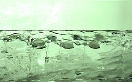 Água líquida do verde de esmeralda da gema foto de stock royalty free