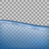 Água, mar, oceano com transparência no fundo transparente Imagem de Stock Royalty Free