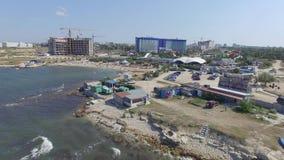 A água-marinha e Aqua Park Zurbagan complexas do hotel em Victory Park de Sevastopol Tiro do ar filme