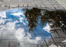 Água na cidade Fotos de Stock Royalty Free