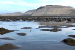 Água na praia fotografia de stock