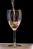 Água no vidro Fotografia de Stock