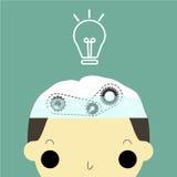 Água para o cérebro ilustração do vetor