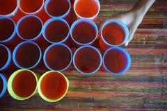 Água potável pronta para servir Fotografia de Stock