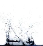 Água que cai na água Fotos de Stock Royalty Free