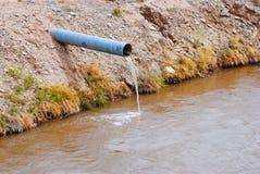 Água que flui de uma tubulação Imagem de Stock