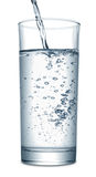 Água que flui no vidro Foto de Stock Royalty Free