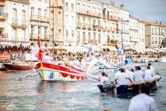 Água que jousting na cidade de Sete Fotos de Stock Royalty Free