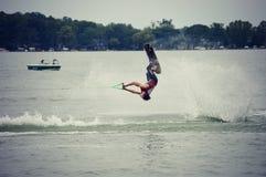 Água Ski Flip Imagens de Stock Royalty Free