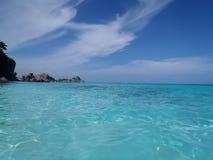 Água, sol e material Foto de Stock Royalty Free