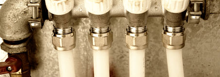 Água suplly em casa fotografia de stock