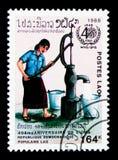 Água, 40th aniversário de W H O serie, cerca de 1988 Imagem de Stock Royalty Free