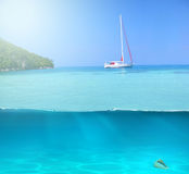 Água tropical das caraíbas Fotos de Stock Royalty Free