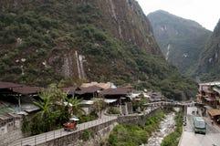 Águas Calientes - Peru fotografia de stock royalty free