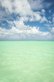 Águas claros do verde esmeralda de Havaí Fotografia de Stock