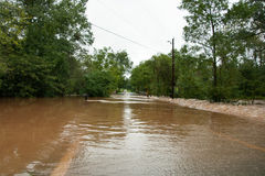 Águas da inundação Fotos de Stock Royalty Free
