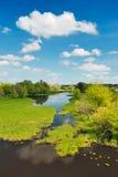 Águas da inundação do rio, Narew, Poland imagem de stock royalty free