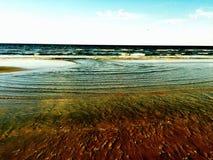 Águas de Galveston Fotografia de Stock Royalty Free