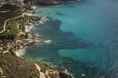 Águas de Sardinia imagens de stock