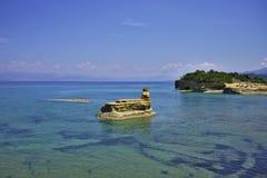 Águas de turquesa de Corfu Foto de Stock Royalty Free