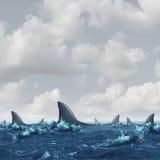 Águas infestadas tubarão ilustração stock