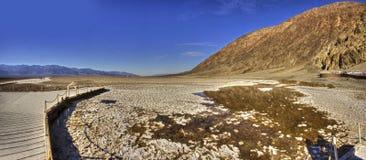 Águas más do Vale da Morte Imagem de Stock