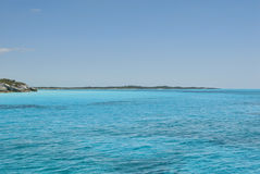 Águas serenos do console Bahamas do gato Foto de Stock