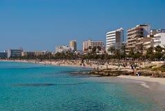 Águas Sparkling de aquamarine do mar Mediterrâneo Fotografia de Stock