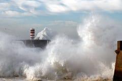 Águas tormentosos Foto de Stock