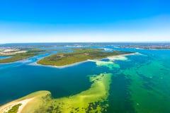 Águas tropicais em Novo Gales do Sul, Austrália fotografia de stock