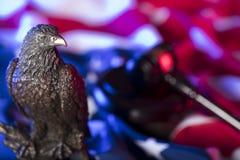 Águia americana Tema do Dia da Independência Fotos de Stock Royalty Free