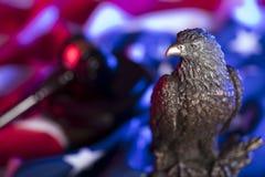 Águia americana Tema do Dia da Independência Imagens de Stock