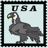 Águia bold(realce) dos EUA do selo de porte postal Ilustração Stock