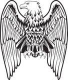 Águia com as asas abaixadas Fotos de Stock Royalty Free