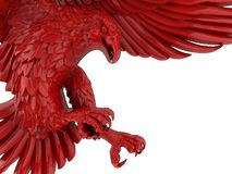 Águia 3D detalhada vermelha ilustração royalty free