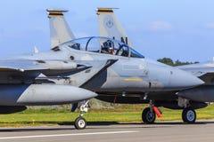 Águia da batida F-15 foto de stock
