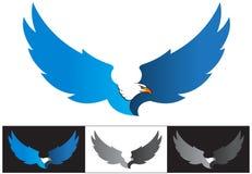 Águia da mascote do vetor ou do voo do logotipo Fotos de Stock Royalty Free