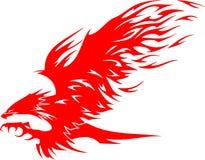 Águia de Atacking nas flamas 5 Fotografia de Stock