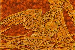 Águia de madeira Imagens de Stock Royalty Free