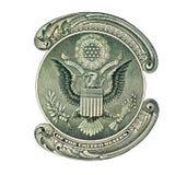 Águia dos EUA na nota de dólar Fotografia de Stock